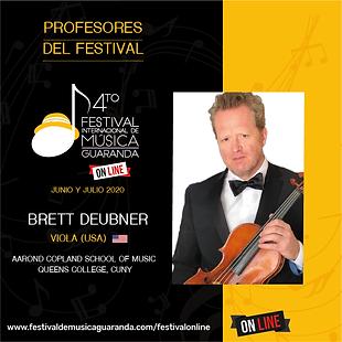 Brett Deubner viola festival Guaranda