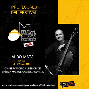 Aldo Mata cello festival Guaranda