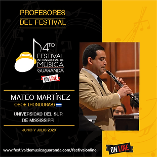Profesores 20202 oboe online