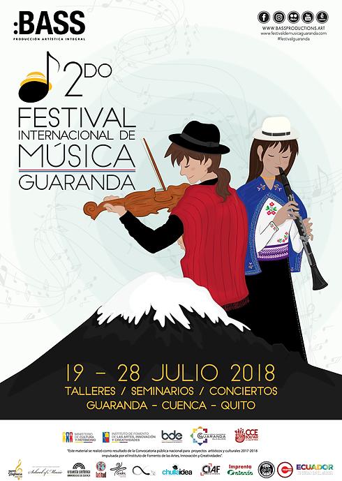 Afiche festival Guaranda 2018