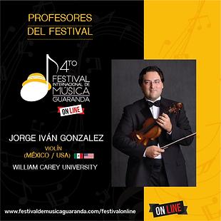 Jorge Gonzalez violin festival Guaranda