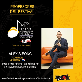Alexis Fong Clarinete Guaranda