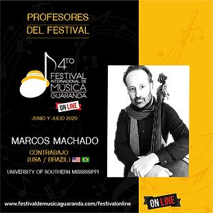 Marcos Machado contrabajo festival Guaranda