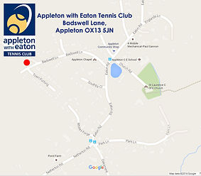 Appleton with Eaton Tennis Club map