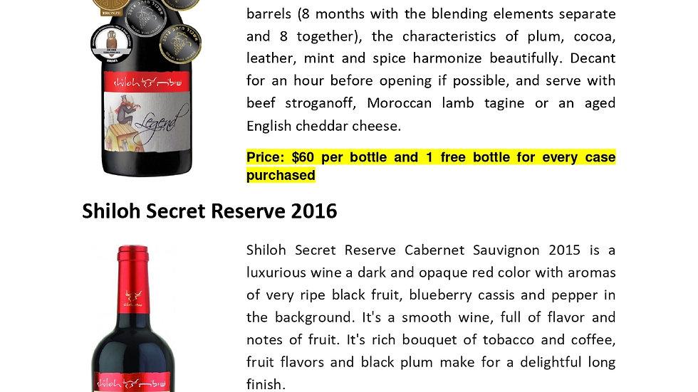 Shiloh Legend and Secret Reserve