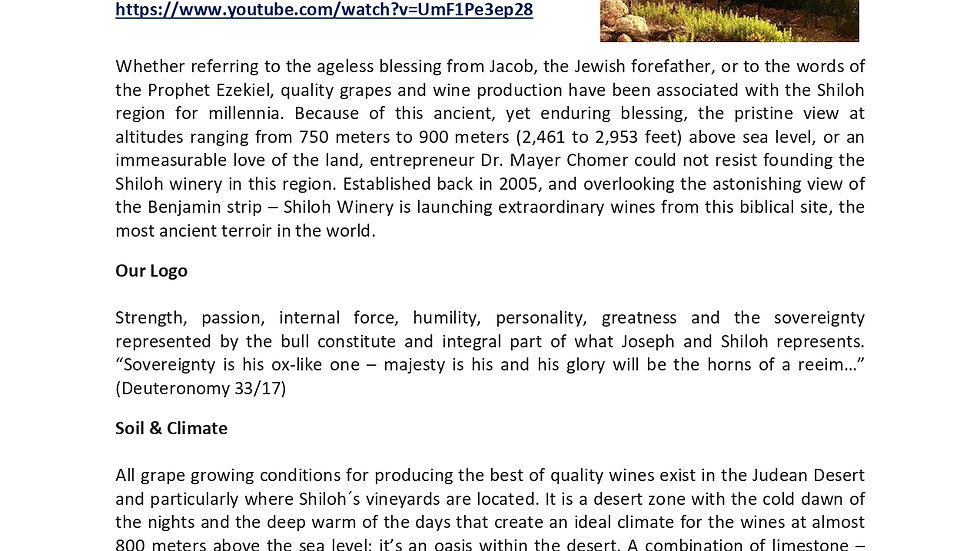 Shiloh Winery introduction