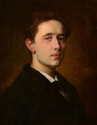 mogelijk Berend Kunst - Portret van een jongeman