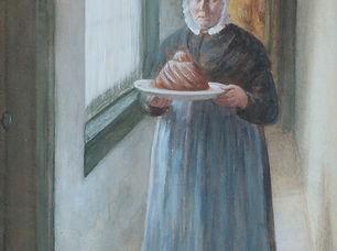 Gerke Henkes - Vrouw met vers gebakken tulband