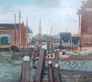 Johan Buning - Boten in een binnenhaven