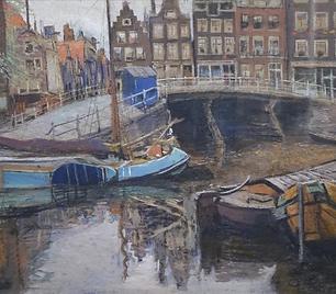 Frans Nackaerts - Prinsengracht, hoek Bloemgracht in Amsterdam