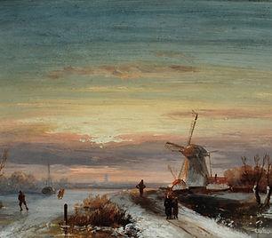 Charles Leickert - Winters tafereel