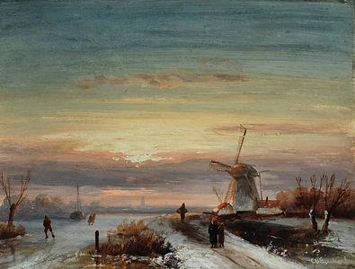 Charles Leickert - Winterscene
