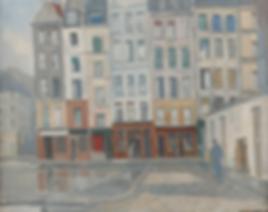Willem Hamel - Stadsgezicht Parijs