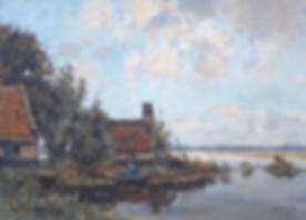 Arie Zwart - Boerderij bij de Nieuwkoopse plassen