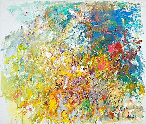 Anton Buytendijk, Amsterdam 1913-2002Amsterdam, 'Voorjaar in tuin', olieverf op doek, 100 x 120 cm., gesigneerd rechtsonder.