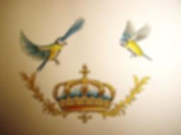 la couronne du roi de France par Louis Chiren, les mésanges du Roi par Louis Chiren, le printemps du roi