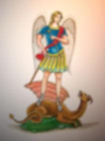saint michel protecteur du royaume de France par Louis Chiren, général des Anges