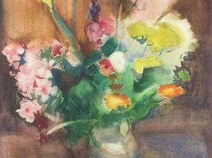Harrie Kuyten - Stilleven van bloemen in vaas