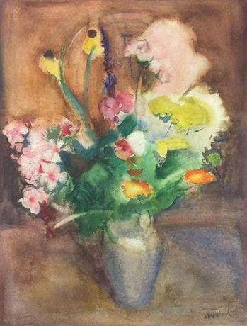 Harrie Kuijten - Stilleven van bloemen in vaas