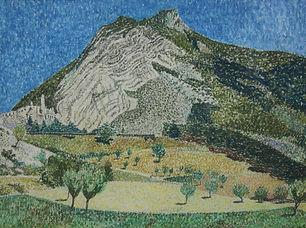 Louis Boermeester - Berglandschap in Sisteron, Frankrijk