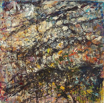 Anton Buytendijk, Koeland, olieverf op doek, 90 x 125 cm., 1993.