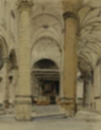 Marius Richters - Interieur van de Oude kerk, Amsterdam