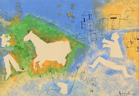 Herman Brood - Figuren met paard