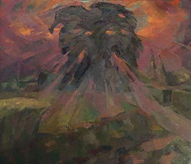 Cees van Urk - Ochtendzon aan de Zwaluwenweg 4 in Blaricum