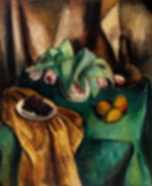 Arnout Colnot - Stilleven met tulpen en fruit