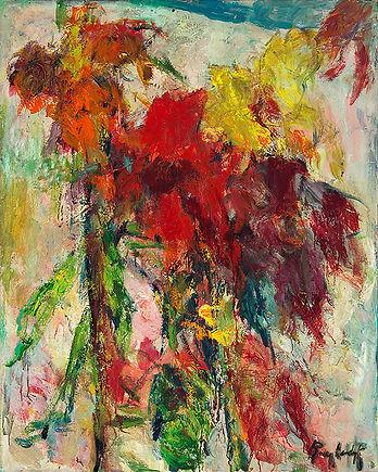 Anton Buytendijk, Amsterdam 1913-2002Amsterdam, 'Kasbloemen', olieverfop doek, 100 x 80cm., gesigneerd rechtsonder, niet gedateerd.