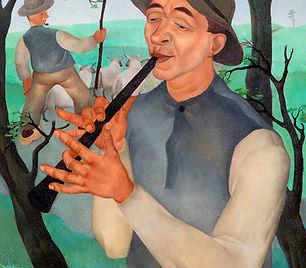 Henk Krijger - Fluitspelende herder