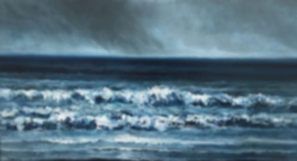Oscar Mendlik - Zeegezicht met dreigende lucht