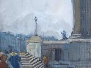 Ko Cossaar - Figuren op de trap bij de National Gallery in Londen