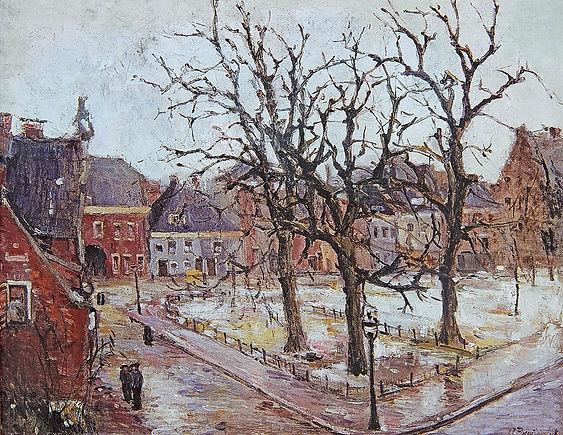 Anton Buytendijk,Amsterdam 1913-2002Amsterdam,'Martinikerkhof, Groningen', olieverfop doek,83x 100cm.,gesigneerd rechtsonder, niet gedateerd, particuliere collectie.