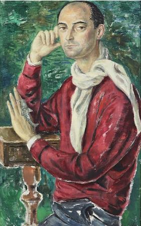 Gisèle d'Ailly van Waterschoot van der Gracht - Portret van Ernst Lampe