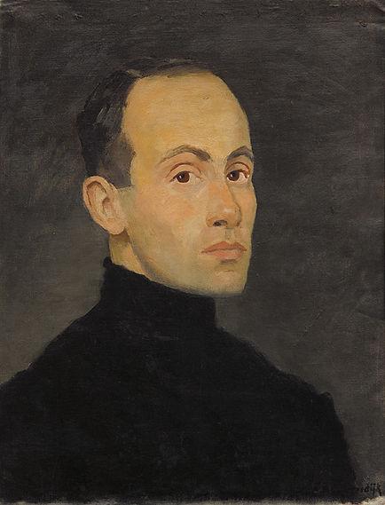 Anton Buytendijk, ´Zelfportret´, olieverf op doek, 52 x 39 cm.
