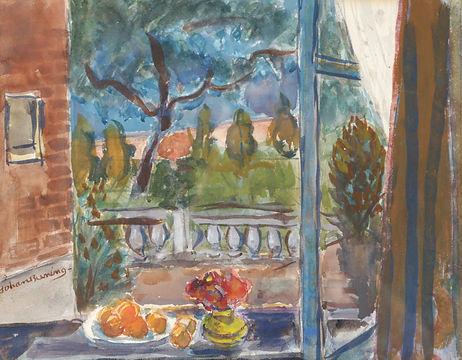 Johan Buning - Uitzicht op de tuin