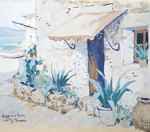Arie Zwart - Huisje aan de haven van S. Tropéz