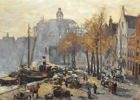 Adriaan Miolée - Bedrijvigheid langs 'tSpaarnete Haarlem