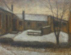 Jan de Boer - Winterstemming in Zaandam