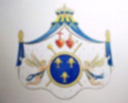 Armes de France aux Coeurs Sacrés par Louis Chiren, entrevue de Pillnitz, révolution française, Louis XVI, fuite de Varennes