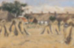 Salomon Garf - Korenschoven bij een boerenerf