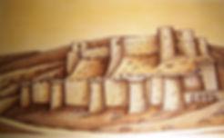 le krak de Syrie, forteresse par Louis Chiren, le krak des chevaliers, le krak des croisades, les chevaliers hospitalier, saint Louis