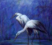 Albert Sprokkelhorst - Twee witte reigers