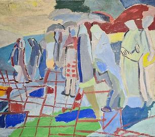 Jehudith Sobel - Figuren in landschap