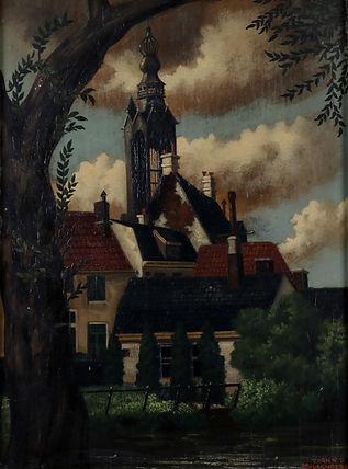 Toon van den Muysenberg - Dorpsgezicht met kerk
