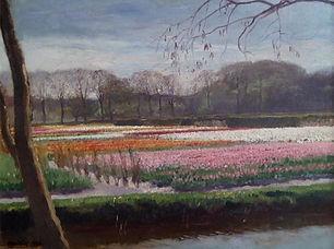 Oscar Mendlik - Bollenvelden bij Overveen