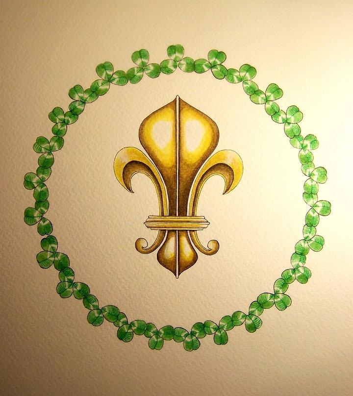 le trèfle gardien du Lys par Louis Chiren, trèfle trinitaire, saint Patrick, îles de Lérins, régiments Irlandais au service de Louis XIV