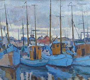 Cees Bolding - De vissershaven van Esbje