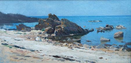 Oscar Mendlik - Langs de kust bij Dubrov